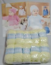 Sirdar Snuggly Bubbly 50g - 10 Ball Pack with TWO FREE PATTERNS 4552 & 4558. 107 COSY CUDDLES